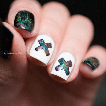 Coexist nail art by Petite Peinture