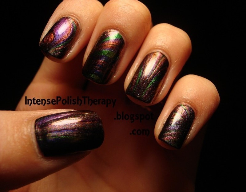 Multichrome Water marble Manicure  nail art by IntensePolishTherapy Anita