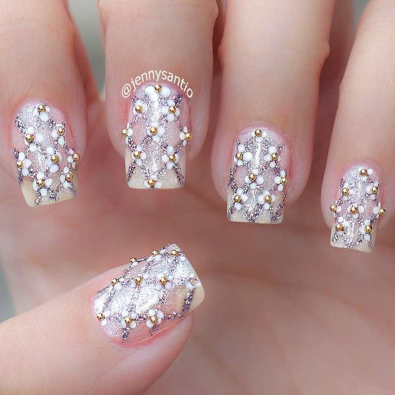 simple wedding nails nail art by Jenny sanyoto - Nailpolis: Museum ...