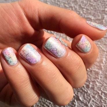 Pastel nails nail art by Lamargotte
