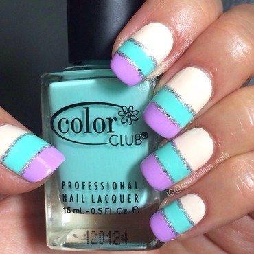 "Simple Pastel Colour Block nail art by Amanda ""Sparklicious Nails"""