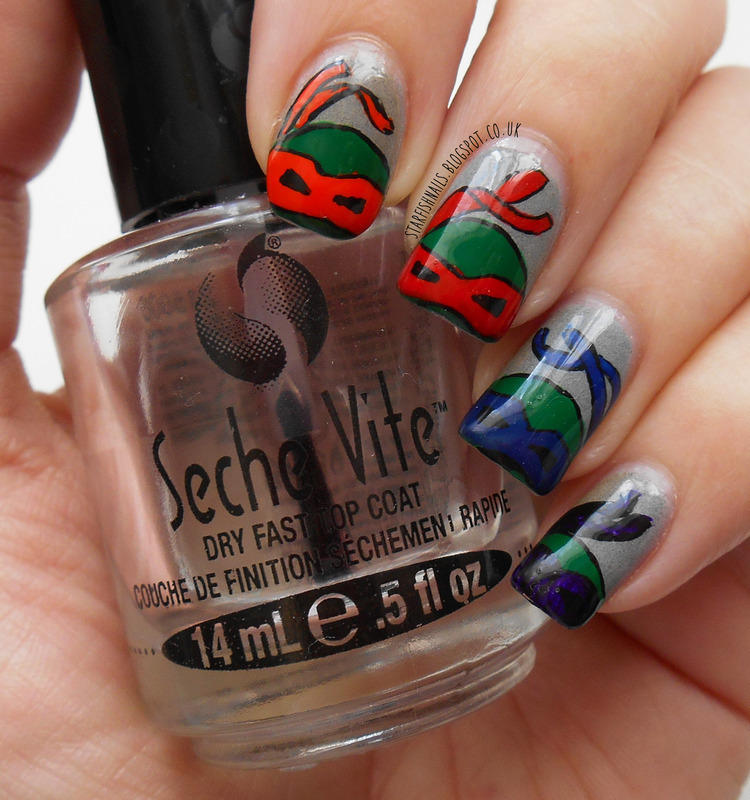 Teenage Mutant Ninja Turtles nail art by Lisa Yabsley - Nailpolis ...