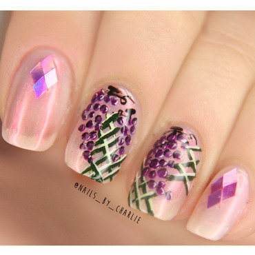 Grapes nail art by Charlie Bourdeau