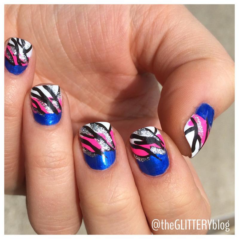 neon zebra! nail art by Ari  Fund