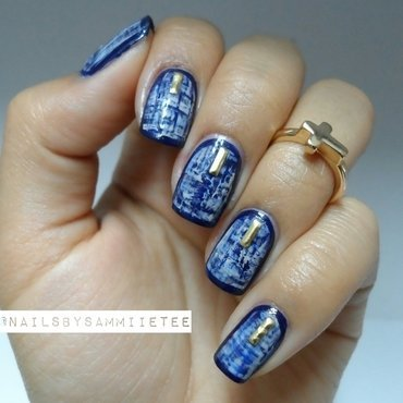 Tweed Inspired Nails nail art by NailsBySammiieTee