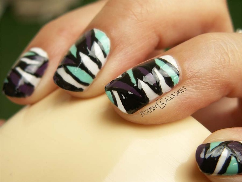 Butterfly Effect nail art by PolishCookie