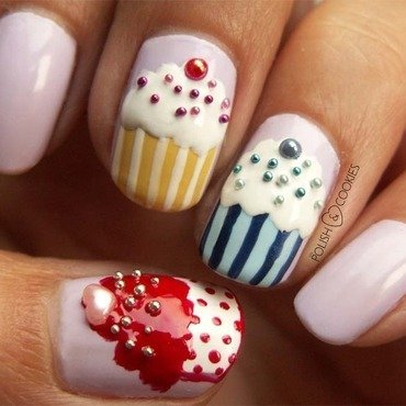 Yummy Nails nail art by PolishCookie