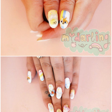 Adventure Time with Fionna and Cake nail art by Carise Iris