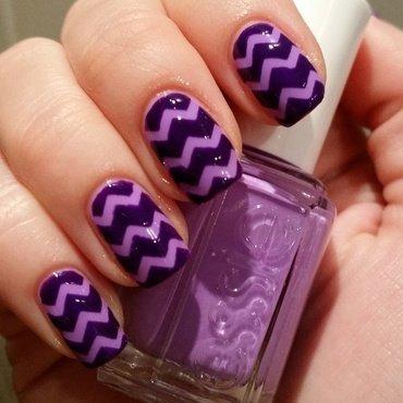 chevron nail art by cijm