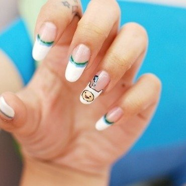 Finn the Human nail art by Carise Iris