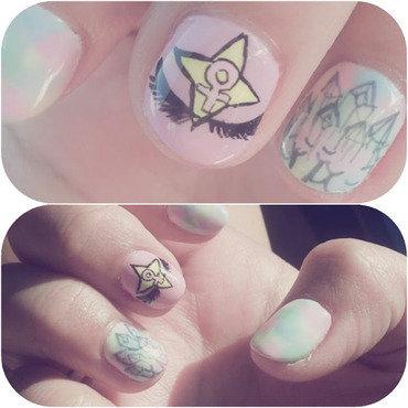 Magical Girl Gang nail art by Carise Iris