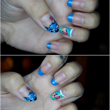 Lilo and Stitch nails nail art by Carise Iris