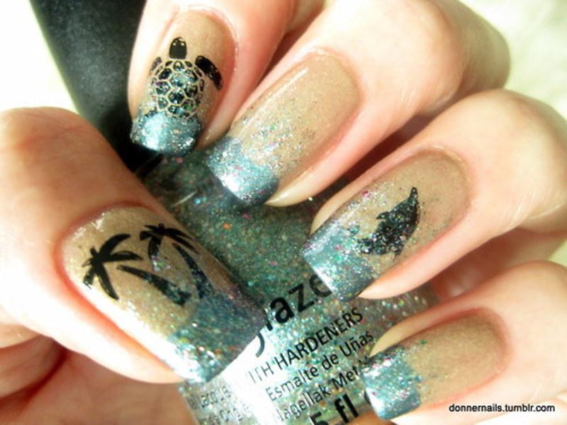 Summer Fun nail art by Donner