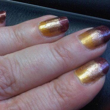 Sunset Nails nail art by lazy nail blogger
