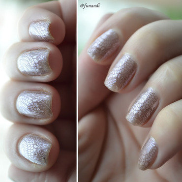 Lace effect nail art by Andrea  Manases