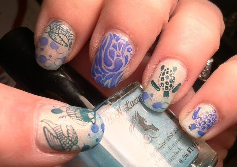 Turtle Time to sea nail art by April Dolan - Nailpolis: Museum of ...