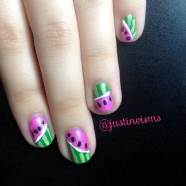 Watermelon nail art by ℐustine