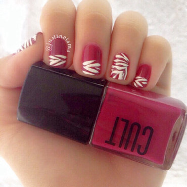 Red Tiger  nail art by ℐustine
