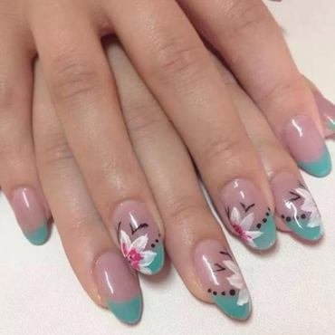 orchid nail art by Sparkle  And Love