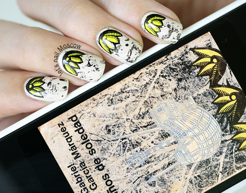 """100 years of solitude"" inspired nails  nail art by Let's Nail Moscow"