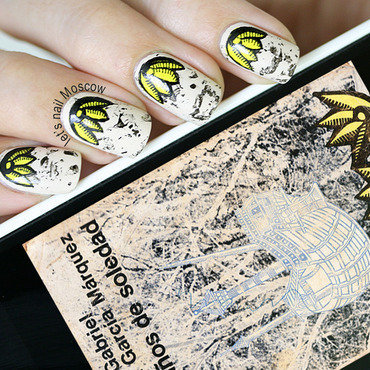 100 anos de soledad years of solitude                                      2014 nails nail art nailart inspired by a book my vampire is buff opi lets nail moscow 2 thumb370f