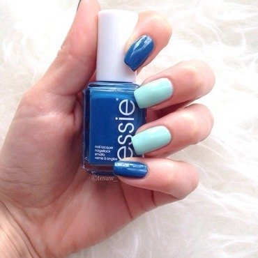 Essie Fashion Playground and Essie Hide & Go Chic Swatch by tesaw