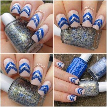 Liquid Sand Chevrons #4 nail art by Ann-Kristin