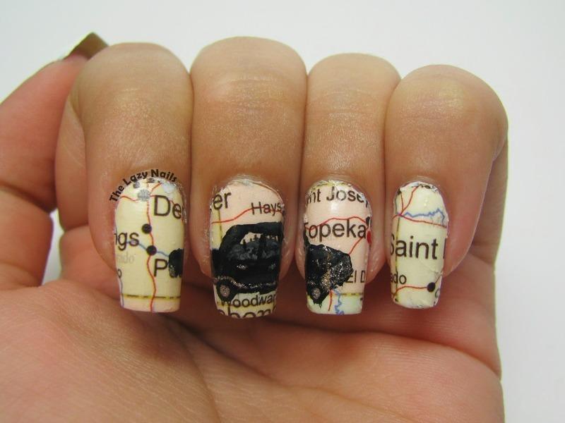The road so far nail art by Hadas Drukker