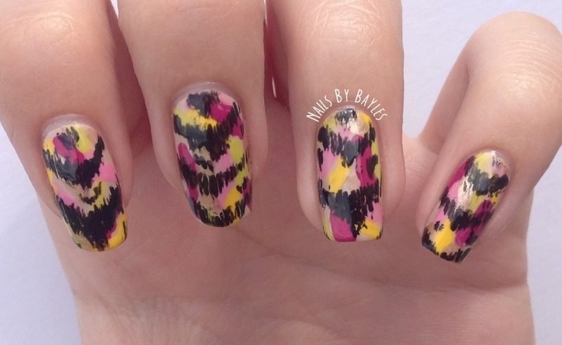 Ikat nail art by Baylie
