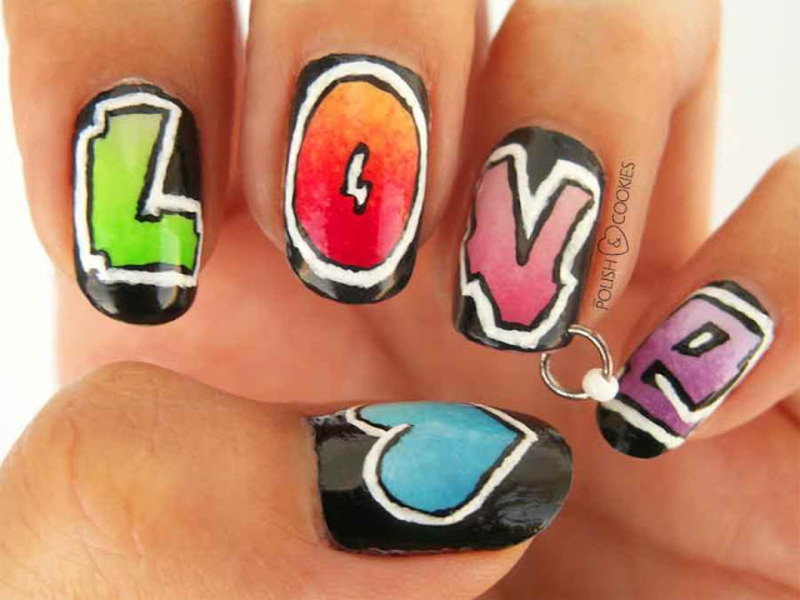 Love Me Or Hate Me - Part 1 nail art by PolishCookie