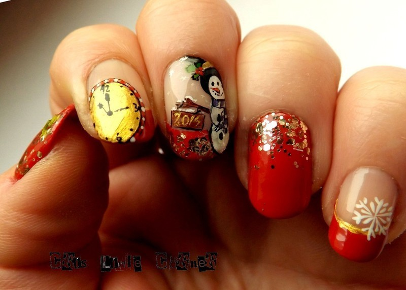 New year! nail art by Cris'