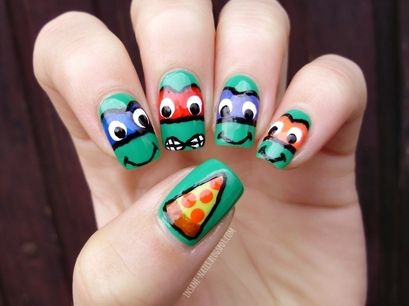 Ninja turtles nails nail art by Sanela - Nailpolis: Museum of Nail Art