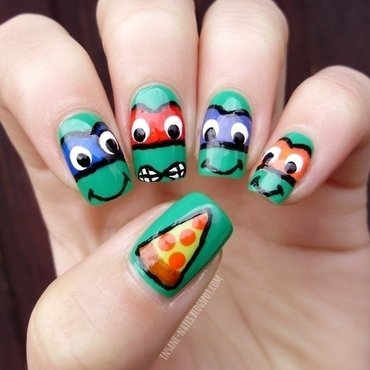 Ninja turtles nails nail art by Sanela