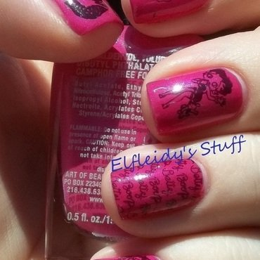 Betty Boop mani nail art by Jenette Maitland-Tomblin
