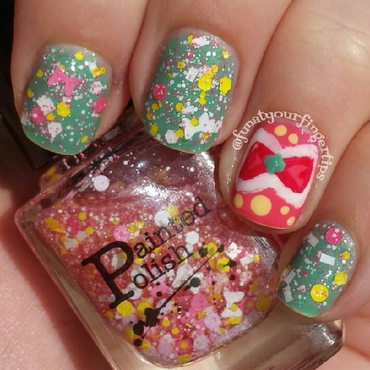 Bows All Day nail art by funatyourfingertips