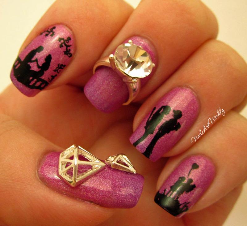 """""""A Love Story"""" nail art by Karolyn"""