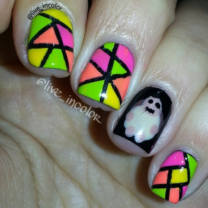 mosaic turtle nail art by kEElyN mARiN