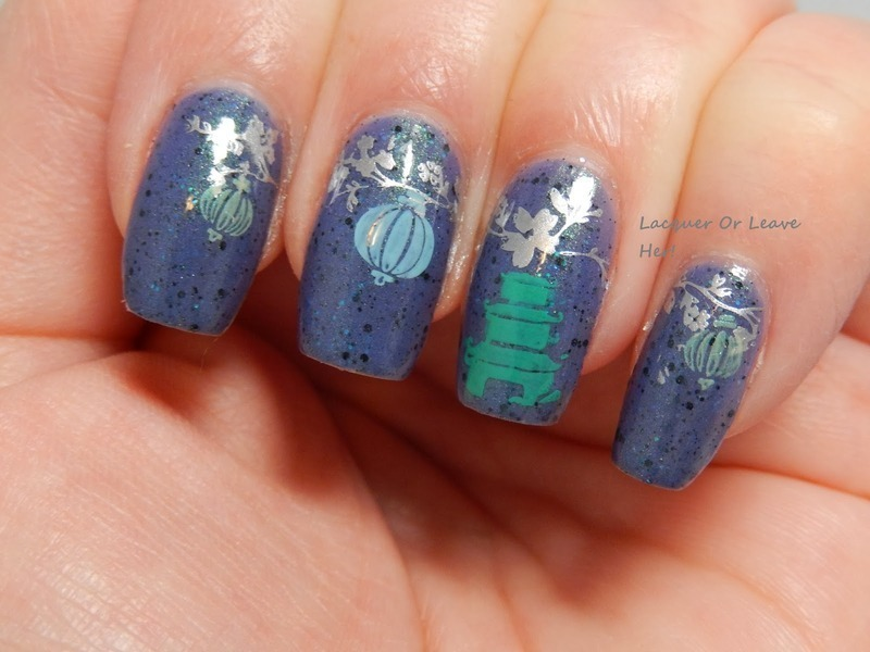 Japanese Garden nail art by Lacquer or Leave Her! Michelle Chouinard