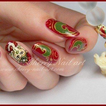 Nail art Ganesha nail art by Cherry Nail art