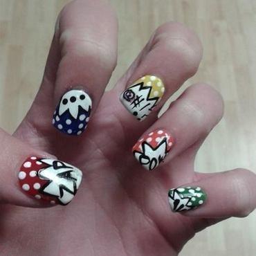 Comic Book Style nail art by nortina
