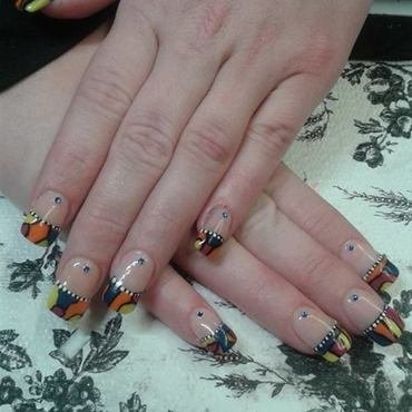 Colourful Acrylic Tips nail art by nortina