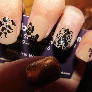 Damask nail art by nortina