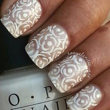 Wedding Bridal Nails nail art by Tonya