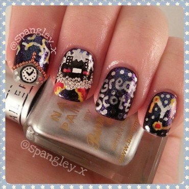 Back To The Future! nail art by Nicole Louise