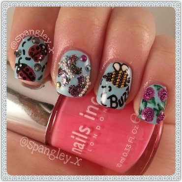 Its Spring Time nail art by Nicole Louise