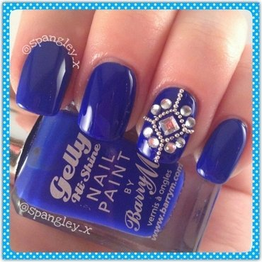 Barry M Blue Grape Swatch by Nicole Louise