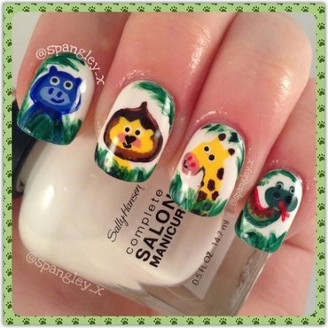 In The Jungle, The Mighty Jungle nail art by Nicole Louise