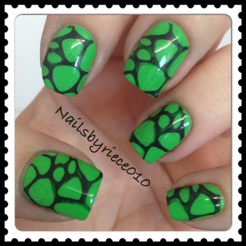 World Turtle Day. nail art by Riece