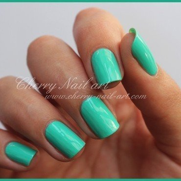 Models Own Turquoise Gloss Swatch by Cherry Nail art