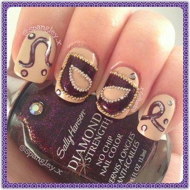 Masquerade - Paper Faces On Parade! nail art by Nicole Louise